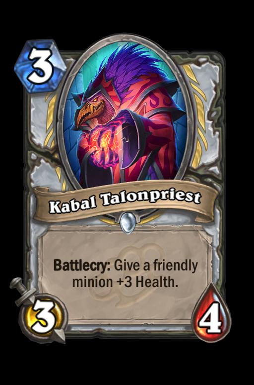 Kabal Talonpriest Hearthstone kártya