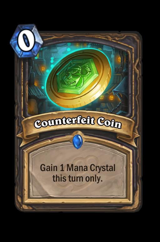 Counterfeit Coin Hearthstone kártya