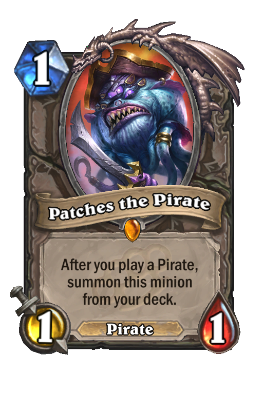 Patches the Pirate Hearthstone kártya