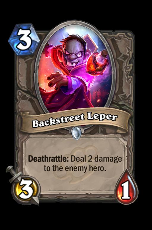 Backstreet Leper Hearthstone kártya