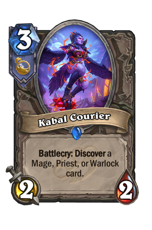Kabal Courier Hearthstone kártya