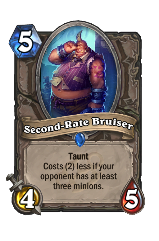 Second-Rate Bruiser Hearthstone kártya
