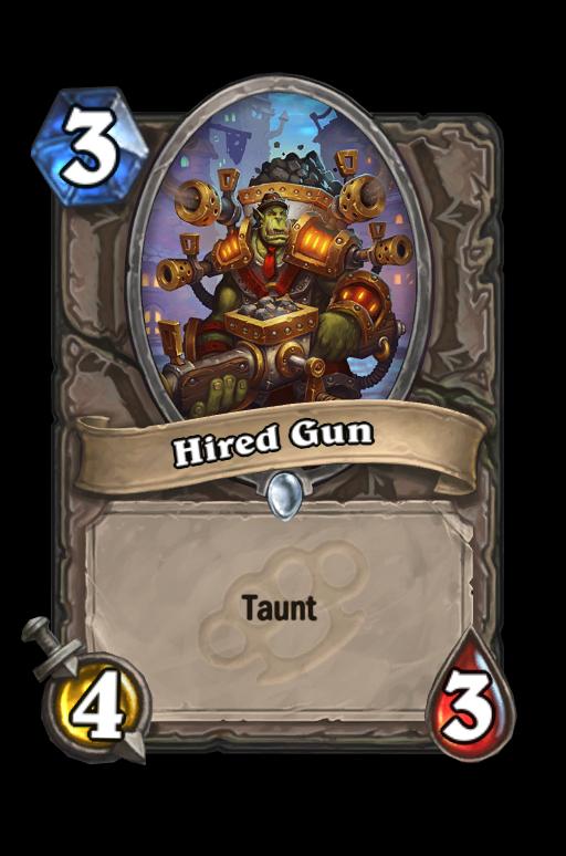 Hired Gun Hearthstone kártya
