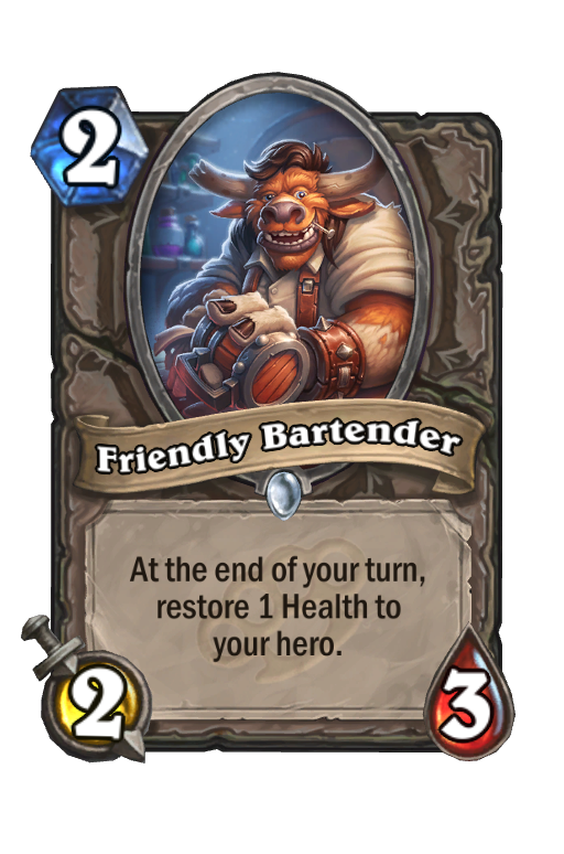 Friendly Bartender Hearthstone kártya