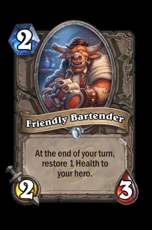 Friendly Bartender Hearthstone kártya