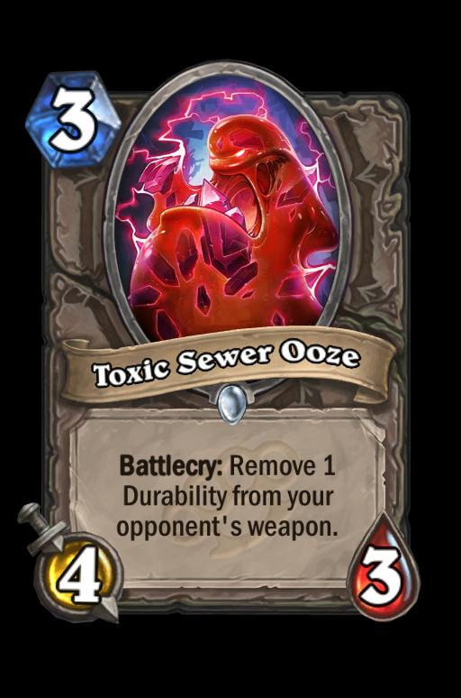 Toxic Sewer OozeHearthstone kártya