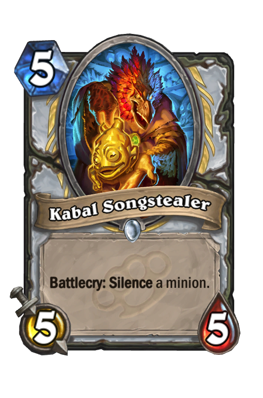 Kabal Songstealer Hearthstone kártya