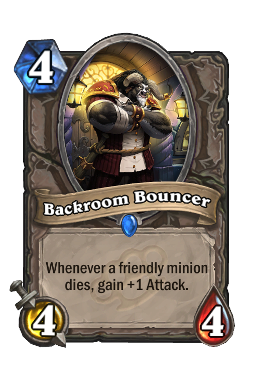 Backroom Bouncer Hearthstone kártya
