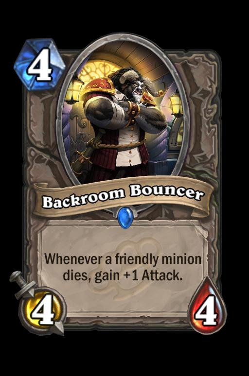 Backroom Bouncer Hearthstone kártya