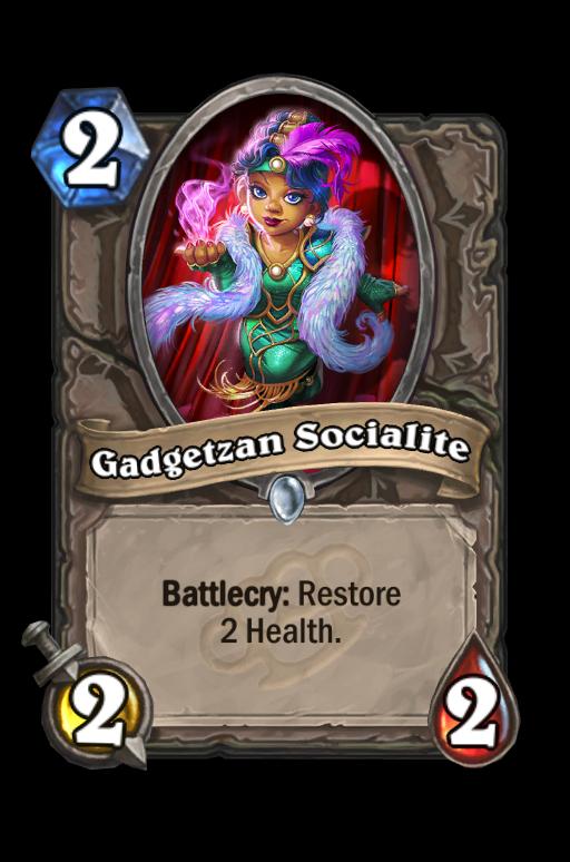 Gadgetzan Socialite Hearthstone kártya