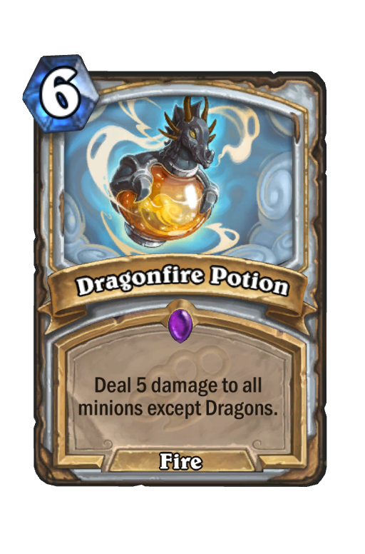 Dragonfire Potion Hearthstone kártya