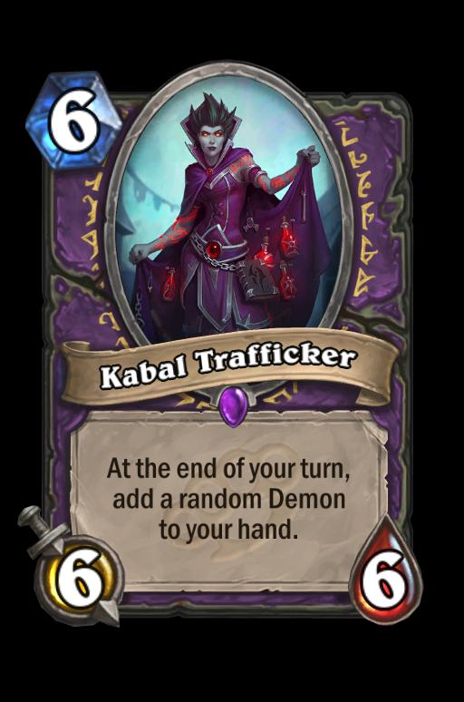 Kabal Trafficker Hearthstone kártya
