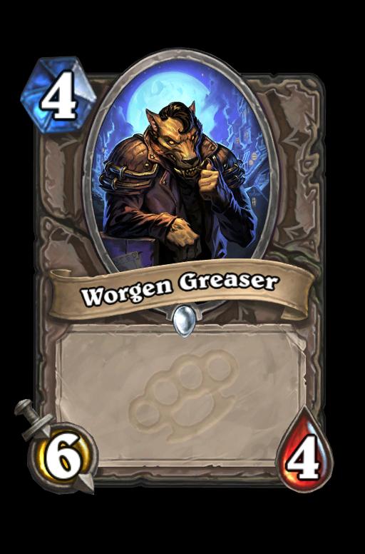 Worgen Greaser Hearthstone kártya