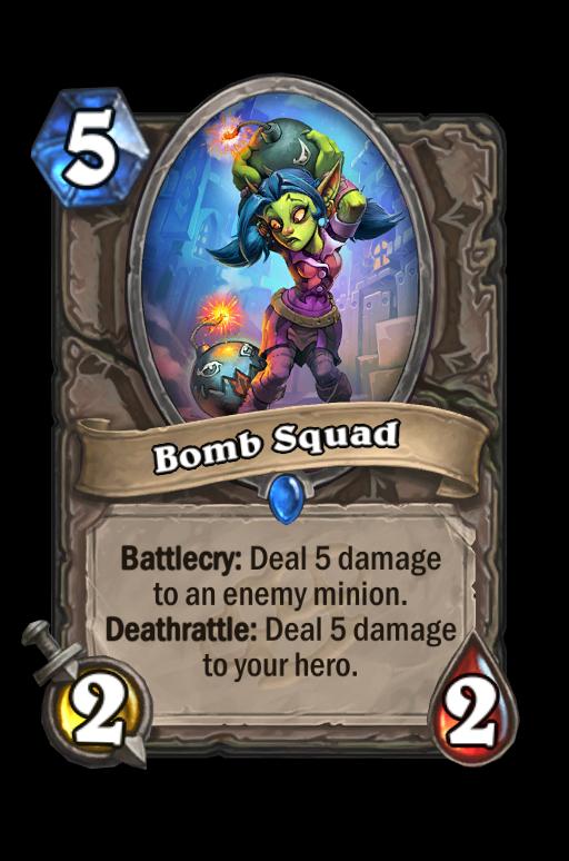 Bomb Squad Hearthstone kártya