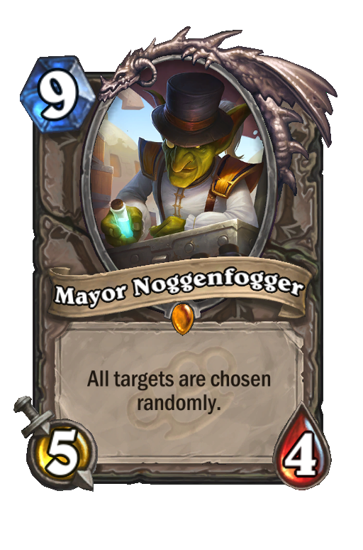 Mayor Noggenfogger Hearthstone kártya