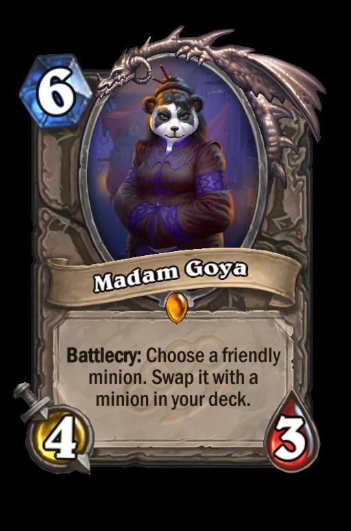 Madam Goya Hearthstone kártya