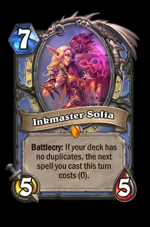 Inkmaster Solia Hearthstone kártya