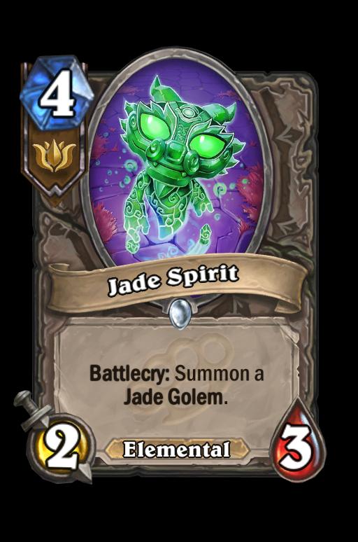 Jade Spirit Hearthstone kártya