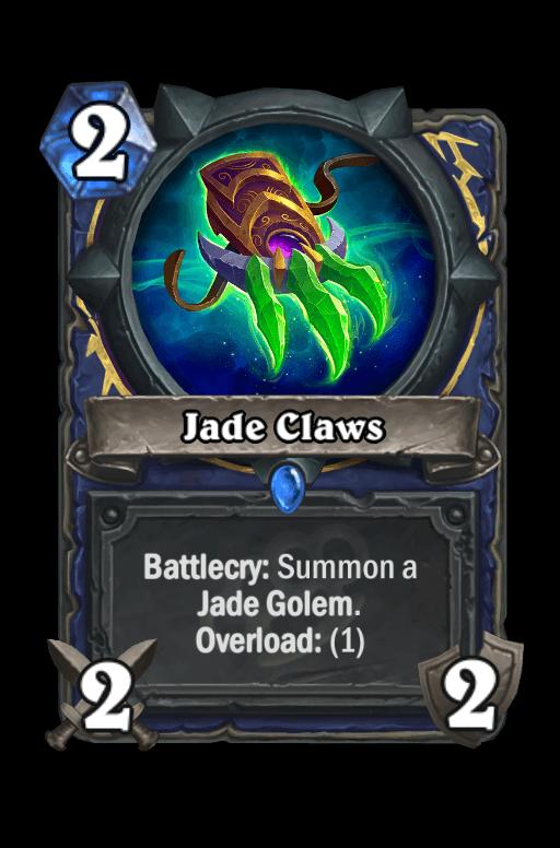 Jade Claws Hearthstone kártya