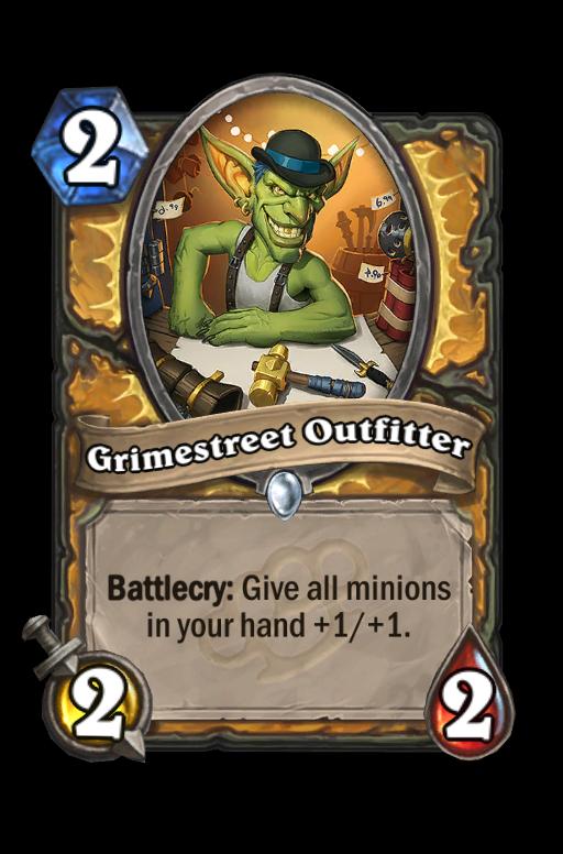 Grimestreet OutfitterHearthstone kártya