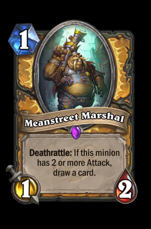 Meanstreet Marshal Hearthstone kártya
