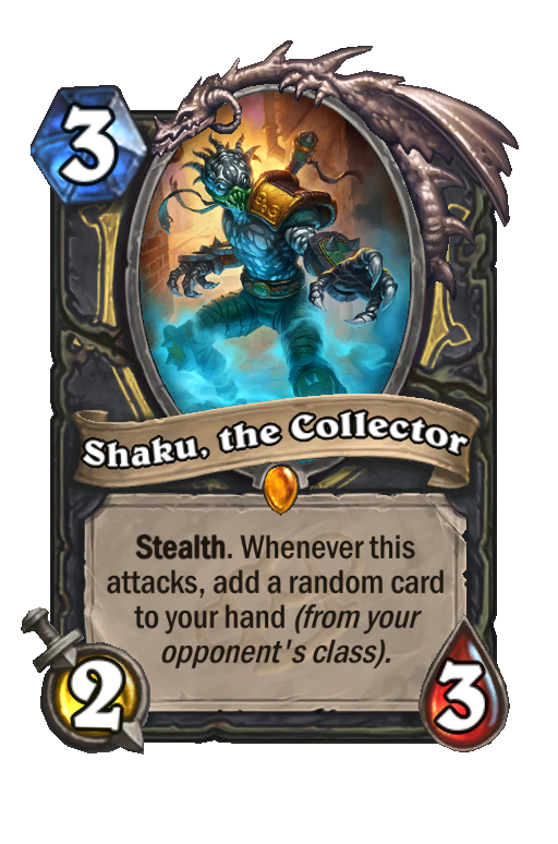 Shaku, the Collector Hearthstone kártya