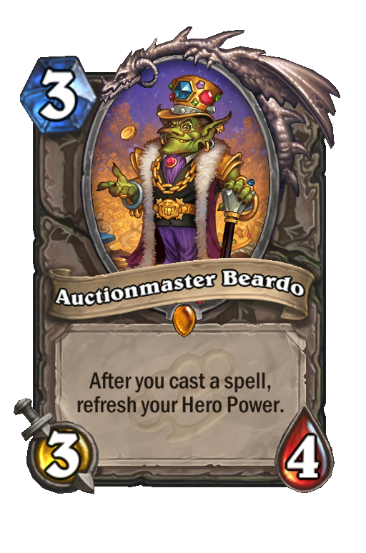 Auctionmaster Beardo Hearthstone kártya