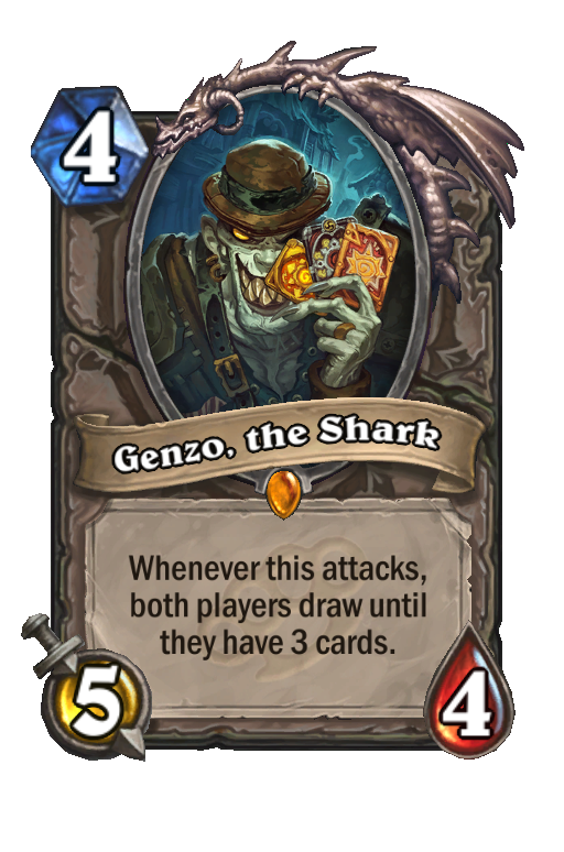 Genzo, the Shark Hearthstone kártya