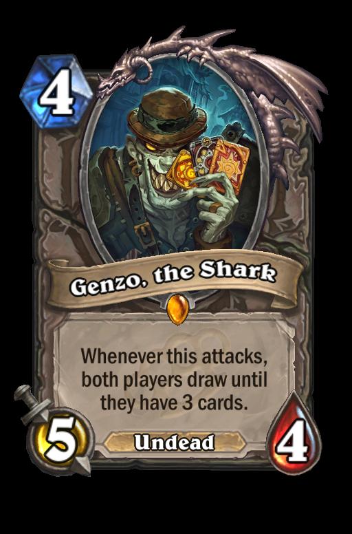 Genzo, the Shark Hearthstone kártya