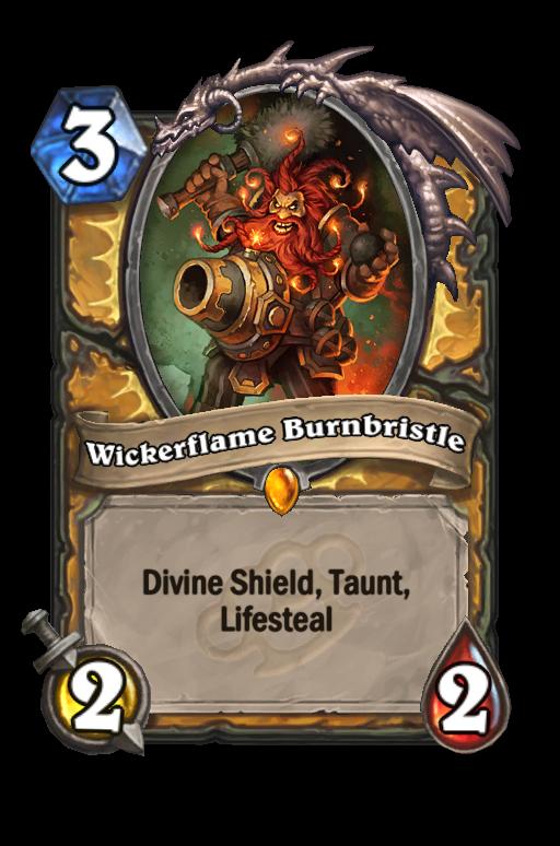 Wickerflame Burnbristle Hearthstone kártya