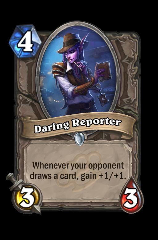 Daring Reporter Hearthstone kártya