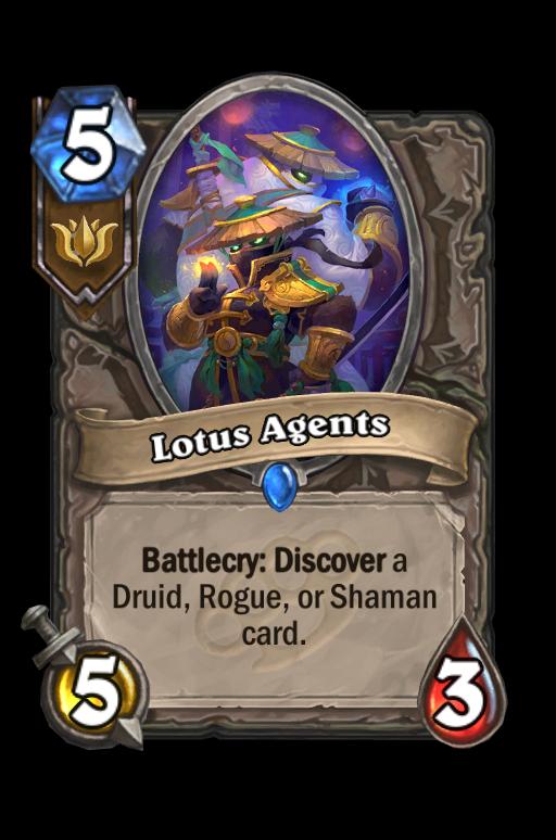 Lotus Agents Hearthstone kártya
