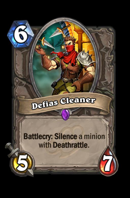 Defias Cleaner Hearthstone kártya
