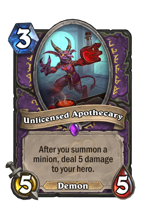 Unlicensed Apothecary Hearthstone kártya
