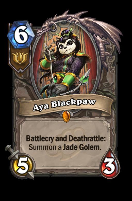 Aya Blackpaw Hearthstone kártya