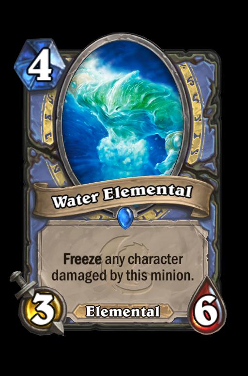 Water Elemental Hearthstone kártya