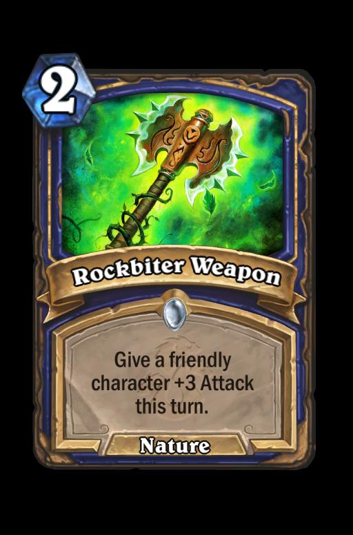 Rockbiter Weapon Hearthstone kártya