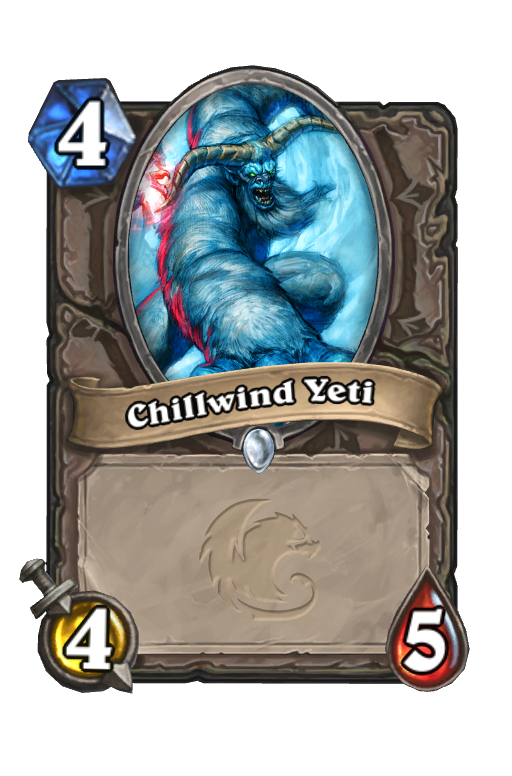 Chillwind Yeti Hearthstone kártya