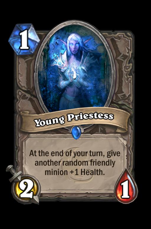 Young Priestess Hearthstone kártya