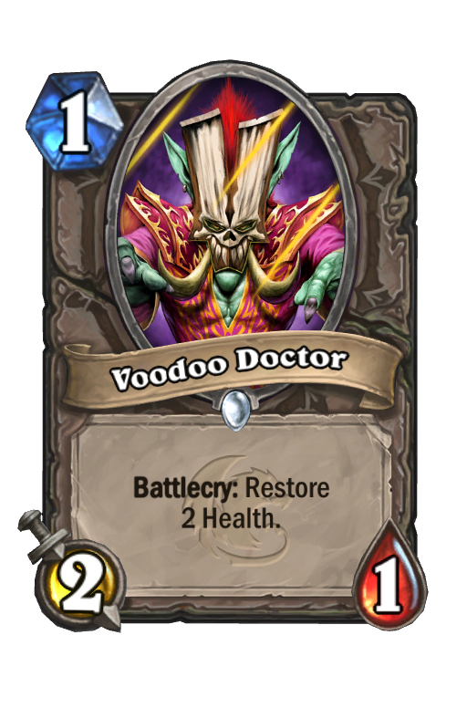 Voodoo Doctor Hearthstone kártya
