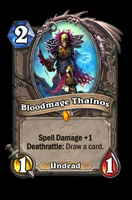 Bloodmage Thalnos Hearthstone kártya
