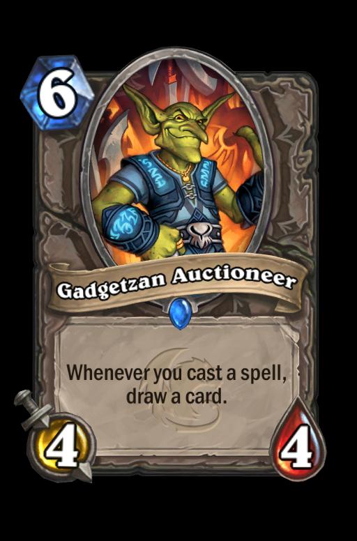 Gadgetzan Auctioneer Hearthstone kártya