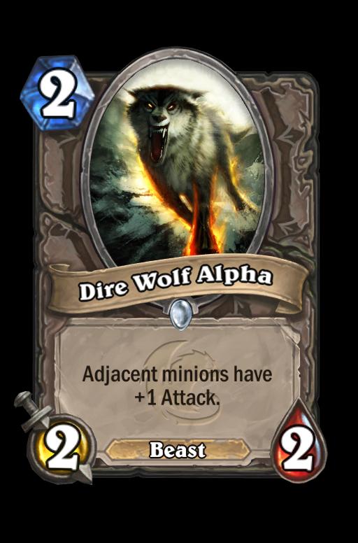 Dire Wolf Alpha Hearthstone kártya