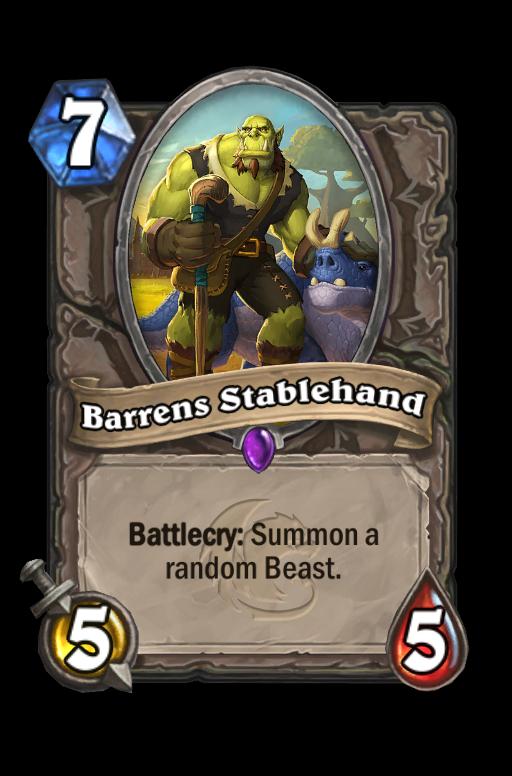 Barrens Stablehand Hearthstone kártya