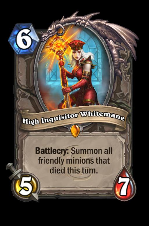 High Inquisitor Whitemane Hearthstone kártya