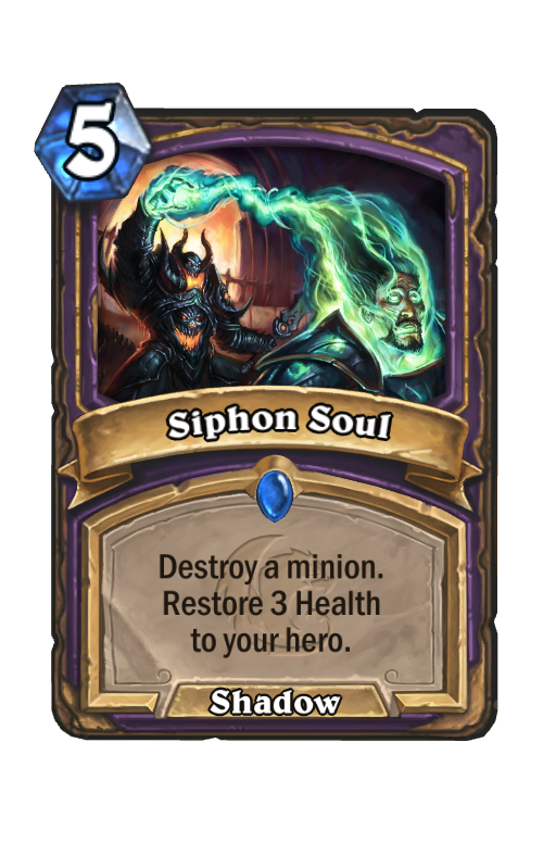 Siphon Soul Hearthstone kártya