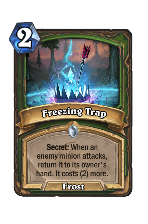 Freezing Trap Hearthstone kártya