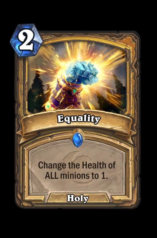 Equality Hearthstone kártya