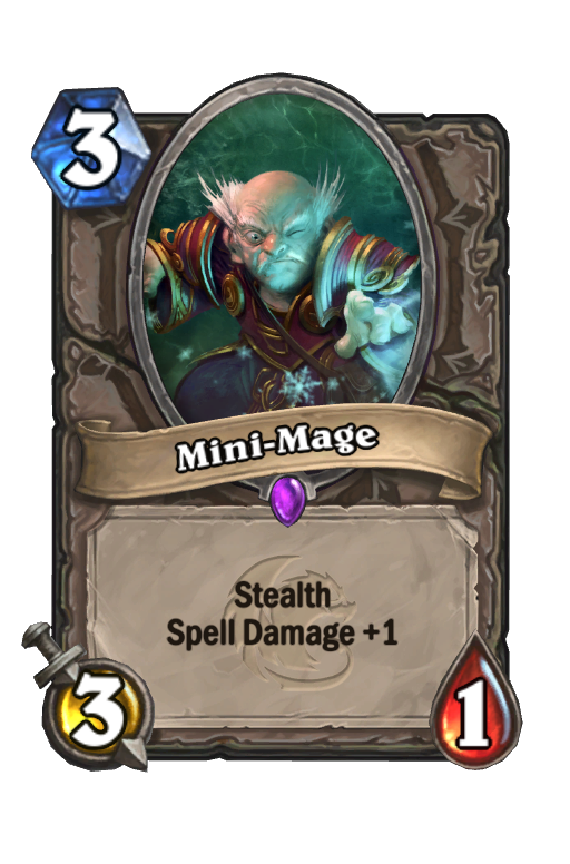 Mini-Mage Hearthstone kártya