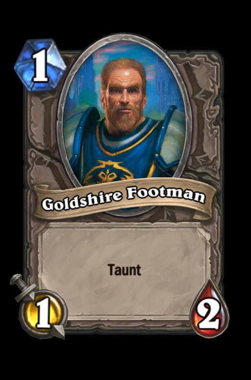 Goldshire Footman Hearthstone kártya